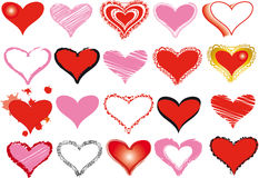 Set of heart Stock Image