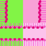Set of heart backgrounds. Set of 4 heart backgrounds vector illustration