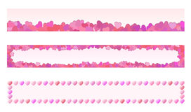 Set of heart banners Royalty Free Stock Photos