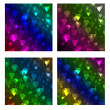 Set of heart bokeh background Stock Photos