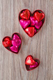 Set of heart candies Stock Images