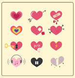 Set Of Heart Stock Photography