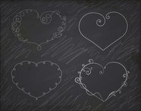Set of heart frames. Element for design. Royalty Free Stock Images