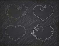 Set of heart frames. Element for design. Royalty Free Stock Images
