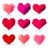 Set of heart gem symbols Stock Images