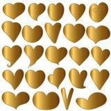 Set Heart gold  - vector Stock Photos