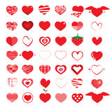 Set of heart with happy valentine's day. Vector illustration  Royalty Free Stock Photo