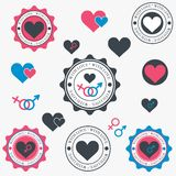 Set of heart icons. Stock Image