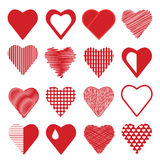 Set of heart icons Royalty Free Stock Images