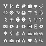 Set heart of icons with shadows. Stock Photography