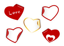 Set of heart labels Stock Photo