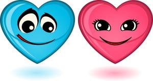 set of heart mimic miens Stock Photos