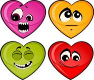 Set of heart mimic miens Stock Photography