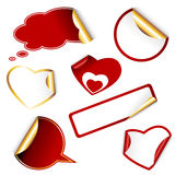Set of heart and other labels Royalty Free Stock Photos
