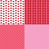 Set of 4 heart patterns Stock Photography