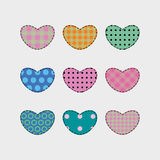 Set 9 of heart shape vector object Royalty Free Stock Photography