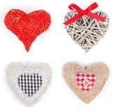 Set of heart shaped decoration Royalty Free Stock Image
