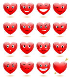 Set Heart Smiles Royalty Free Stock Photography