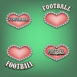 Set heart of soccer bal Royalty Free Stock Photo