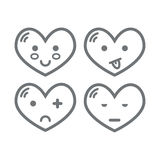Set of heart Stock Images