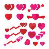 Set heart vector Stock Photography