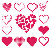 Set of heart vector Stock Images