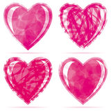 Set of hearts. Vector illustration for your design Stock Photography