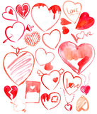 Set of hearts. Stock Photos