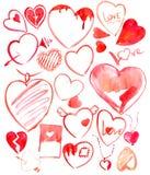 Set of hearts. Stock Photos