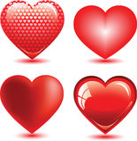 Set of hearts Stock Photo