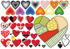 A set of hearts Royalty Free Stock Image
