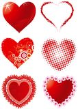 Set hearts. Vector Set of hearts for Valentines day Royalty Free Stock Photography