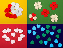 Set of  hearts. (4 in 1 Stock Photography