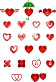 Set of hearts. Vector illustration depicting a set of hearts, made in different styles Royalty Free Stock Photo
