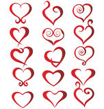 Set of hearts stock illustration