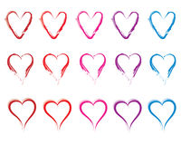 Set of hearts. Vector on white background Stock Photos
