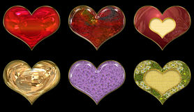 Set of hearts. Set of images of hearts for any use stock illustration