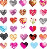 Set of hearts royalty free illustration