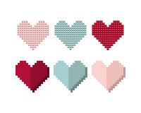 Set the hearts of the boxes, the designer. Royalty Free Stock Image