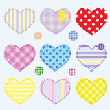 Set hearts and buttons Stock Photography