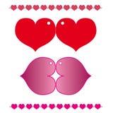 Set hearts Stock Image