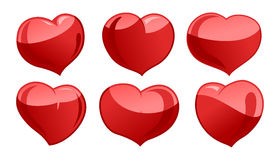 A set of hearts Royalty Free Stock Photography