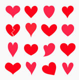 Set of hearts Stock Photos