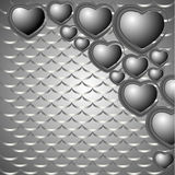 Set of hearts on a dark background Stock Photo
