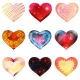 Set of hearts Royalty Free Stock Photos