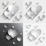 Set of hearts Royalty Free Stock Photography