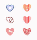 Set hearts. Different types of hearts on a white background Royalty Free Stock Image