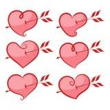 Set of hearts. Royalty Free Stock Photo