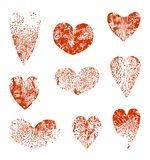 Set of  hearts. Stock Image