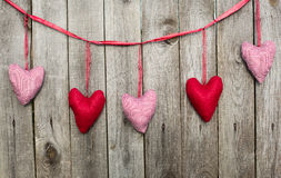 Set of hearts for holiday Stock Photography